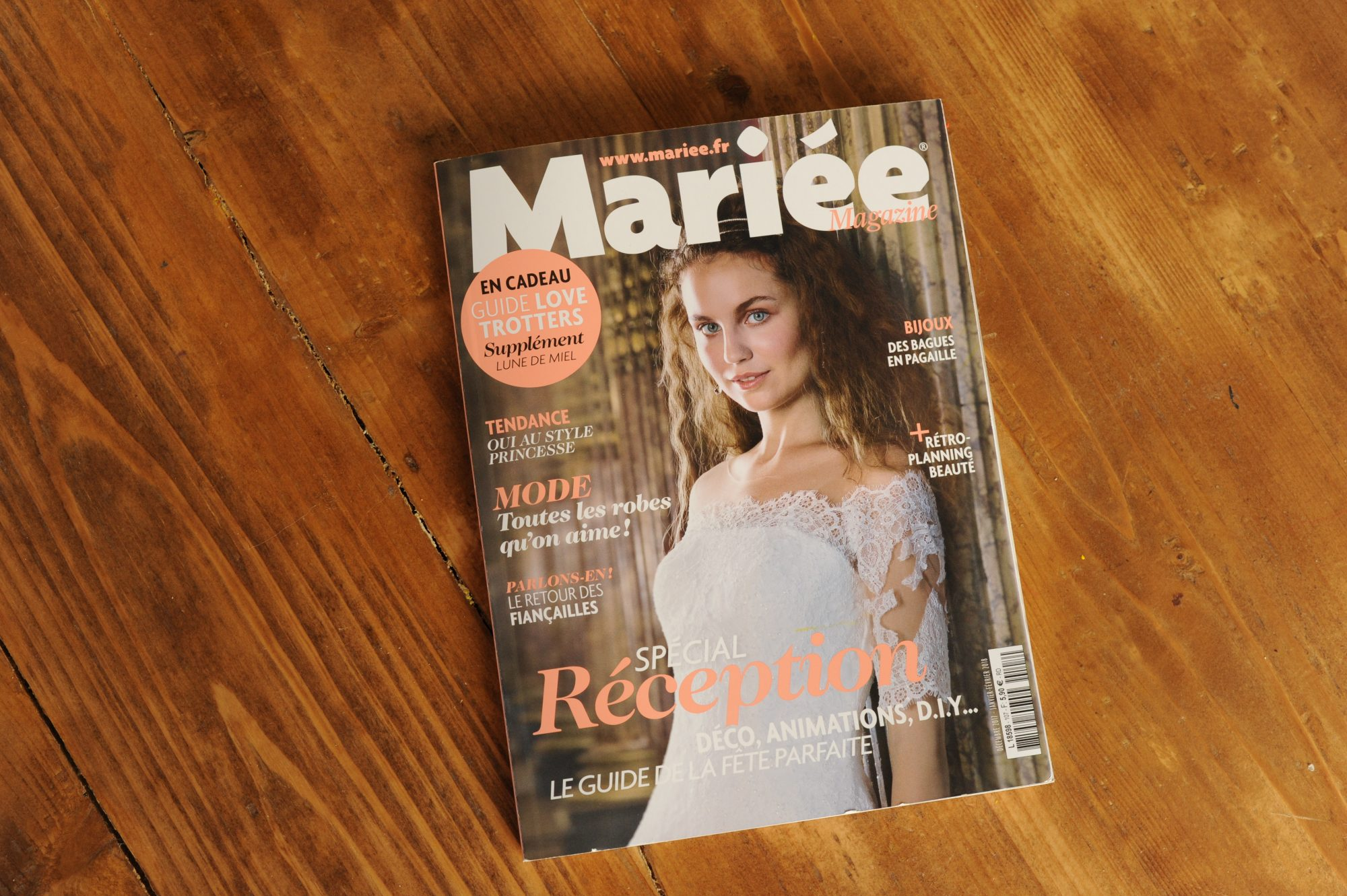 Publication in «Mariée magazine»
